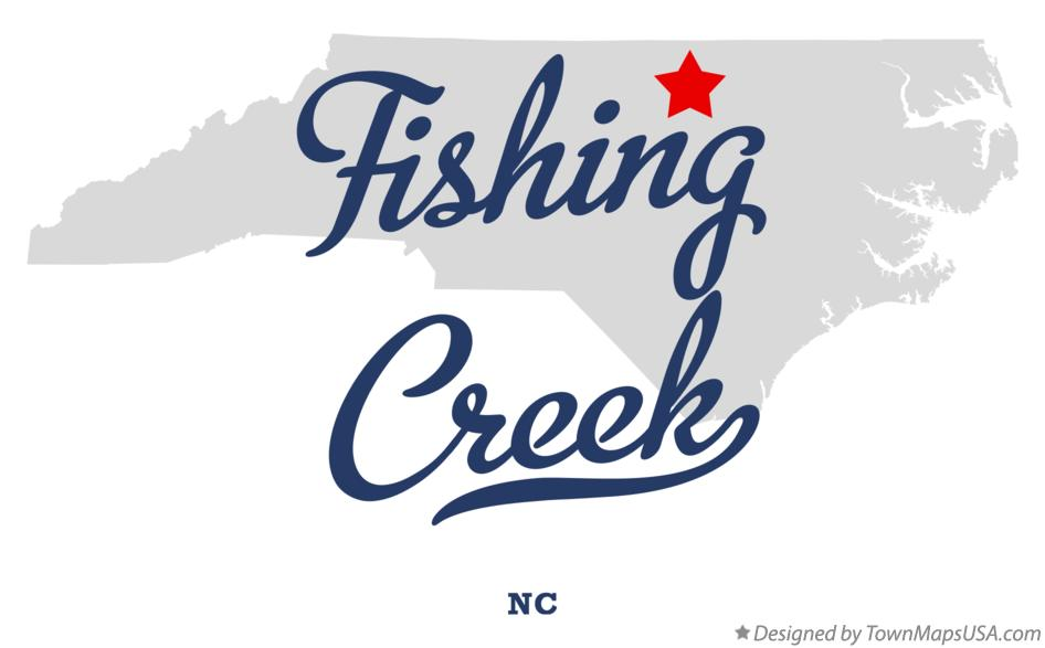 Map of Fishing Creek North Carolina NC