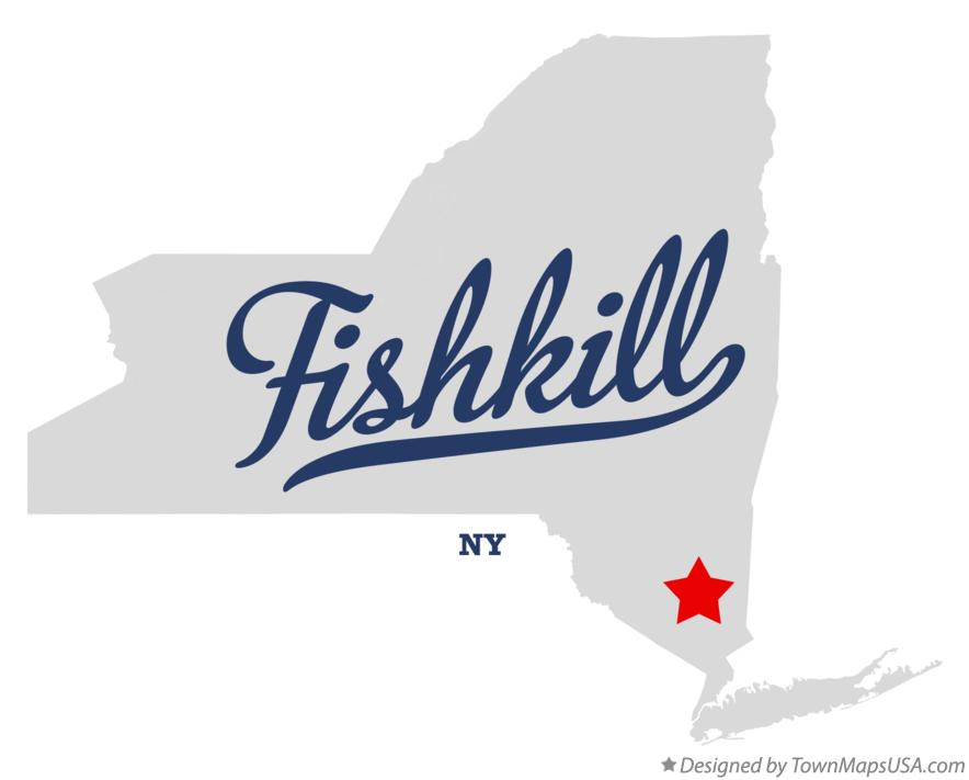 Map of Fishkill New York NY