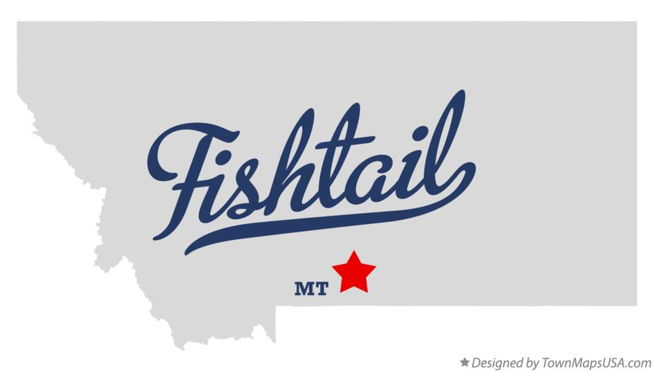 Map of Fishtail Montana MT