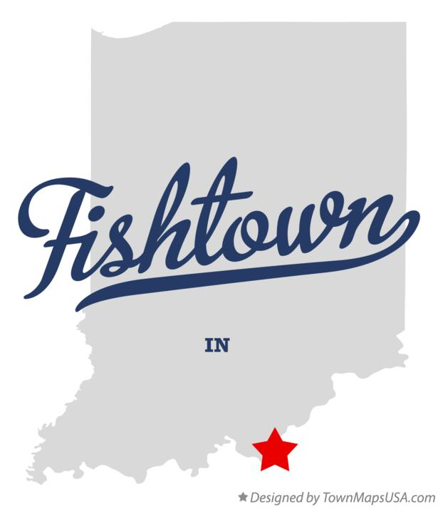 Map of Fishtown Indiana IN