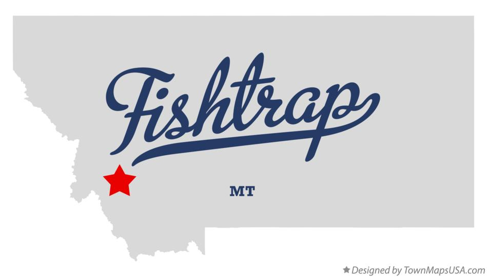 Map of Fishtrap Montana MT