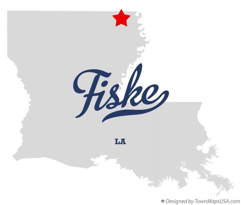 Map of Fiske Louisiana LA