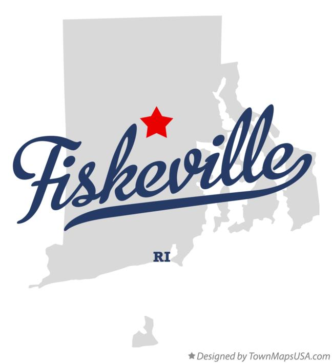 Map of Fiskeville Rhode Island RI
