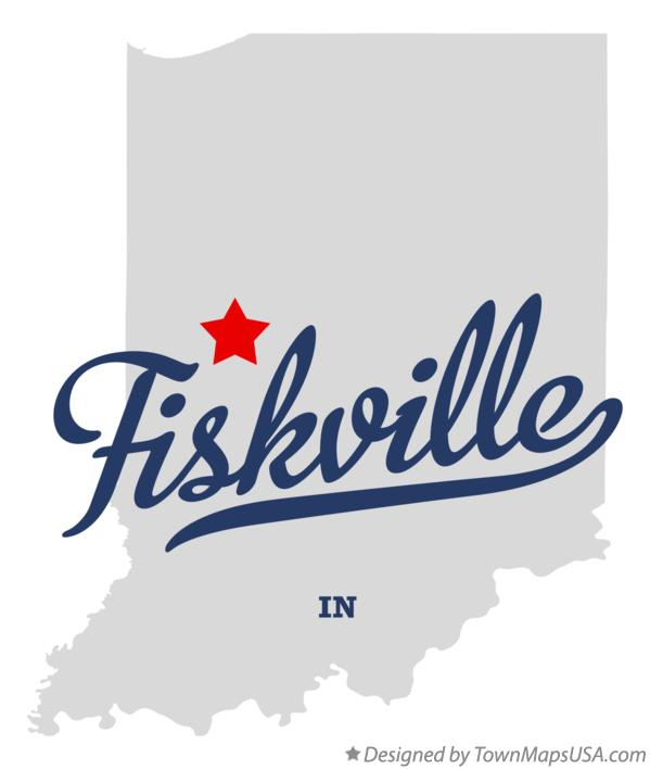 Map of Fiskville Indiana IN