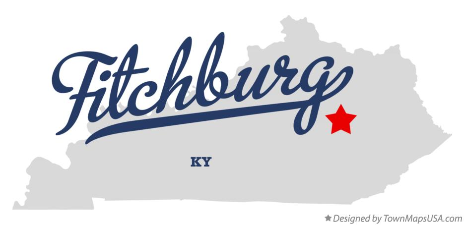 Map of Fitchburg Kentucky KY