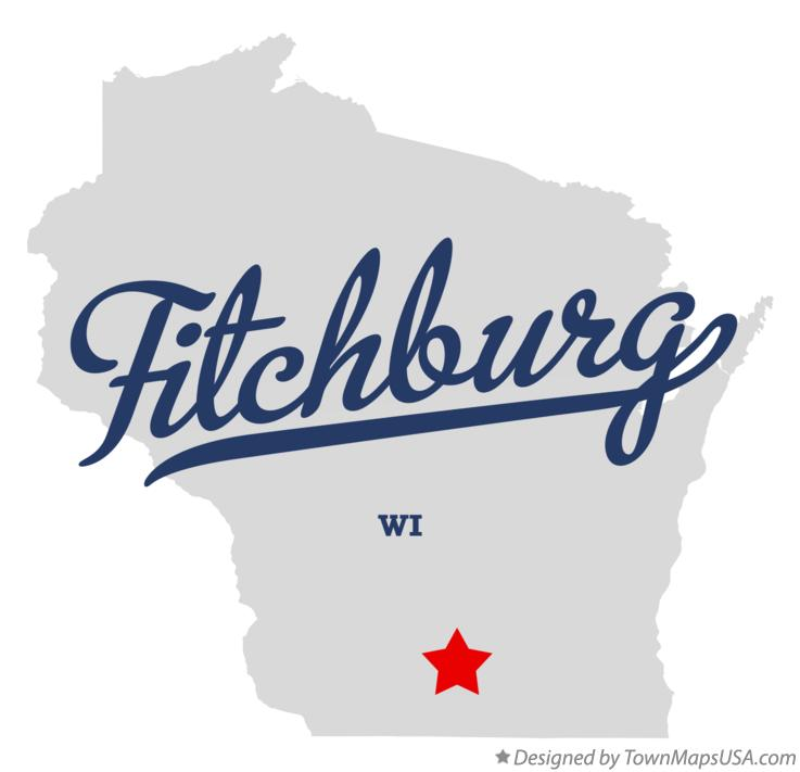 Map of Fitchburg Wisconsin WI