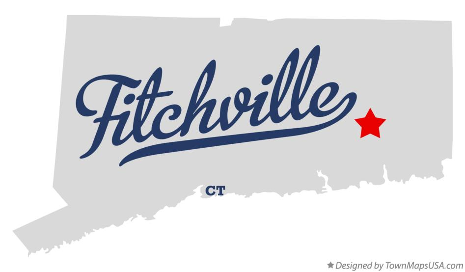 Map of Fitchville Connecticut CT