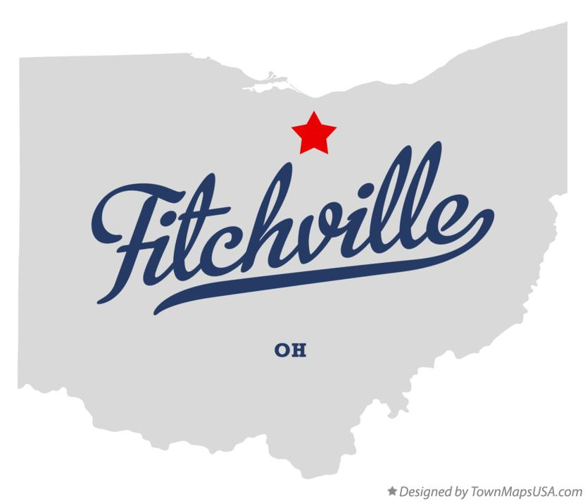 Map of Fitchville Ohio OH