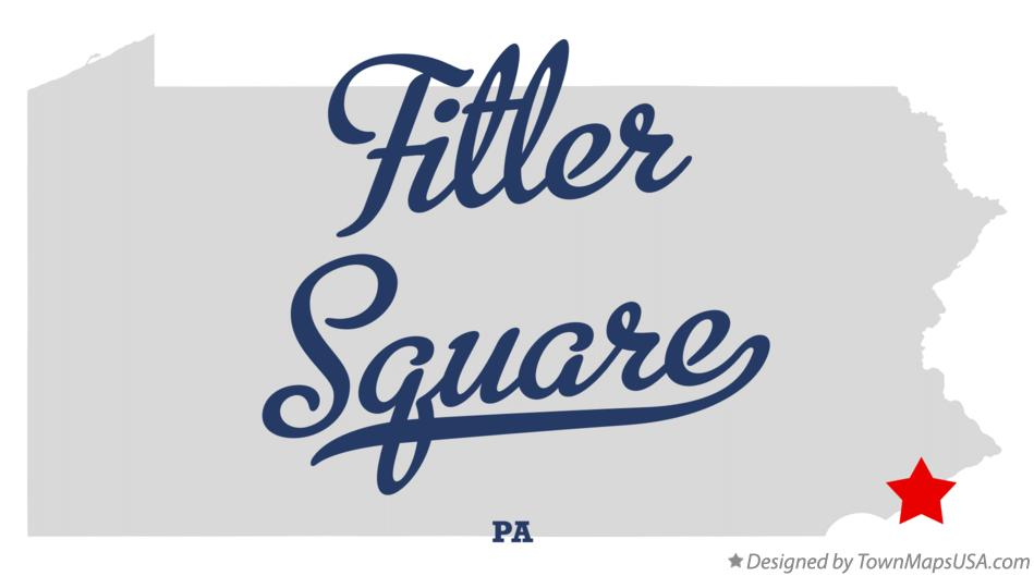 Map of Fitler Square Pennsylvania PA