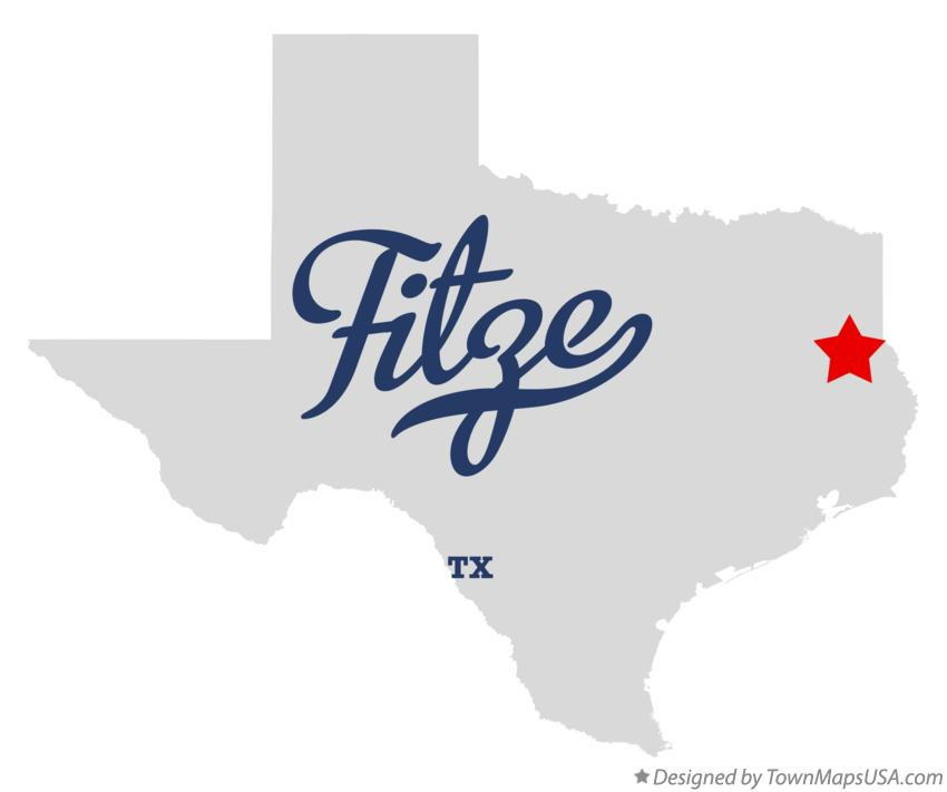 Map of Fitze Texas TX