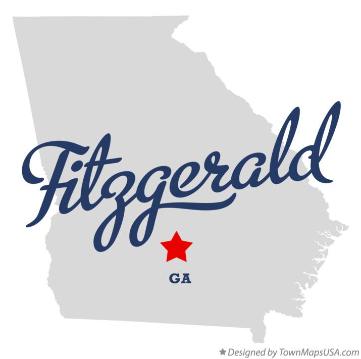 Map of Fitzgerald Georgia GA