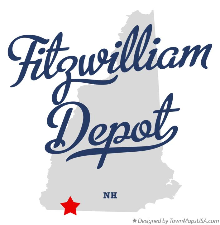 Map of Fitzwilliam Depot New Hampshire NH
