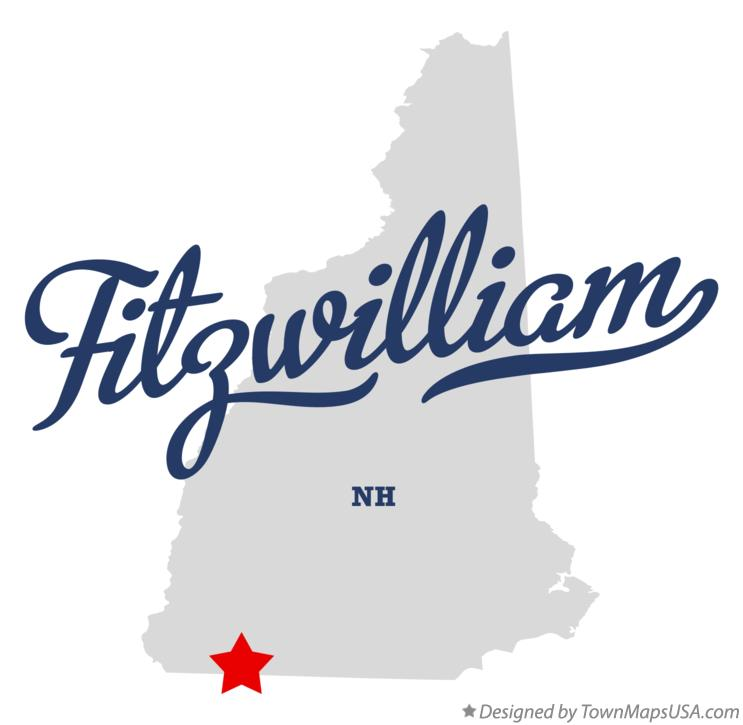 Map of Fitzwilliam New Hampshire NH