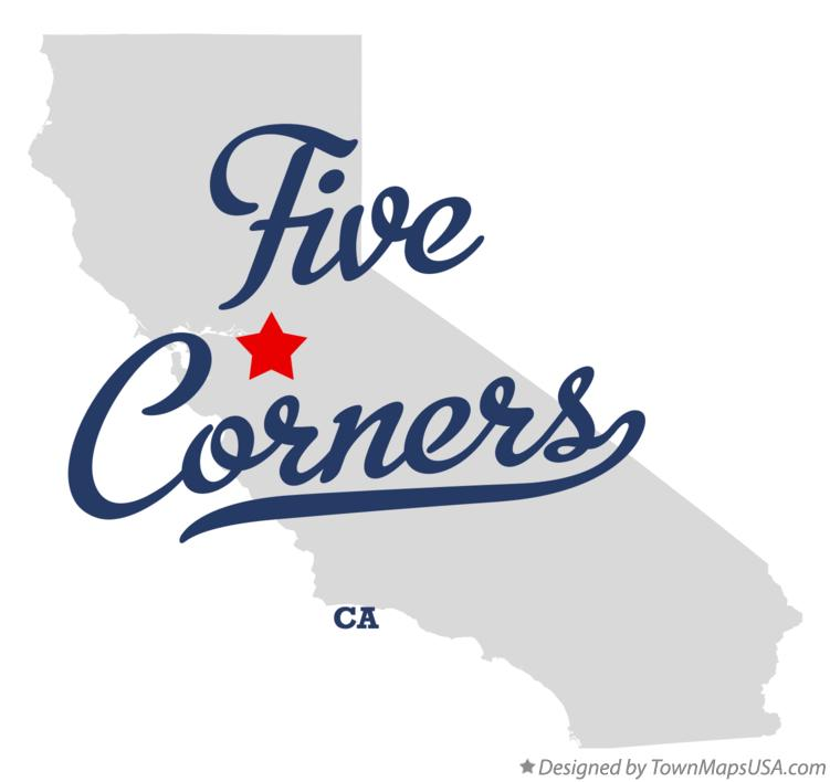 Map of Five Corners California CA