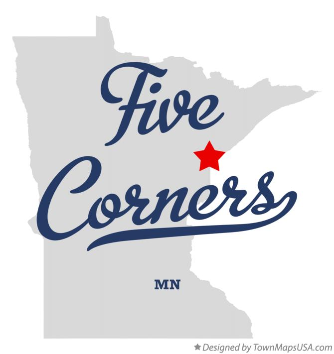 Map of Five Corners Minnesota MN
