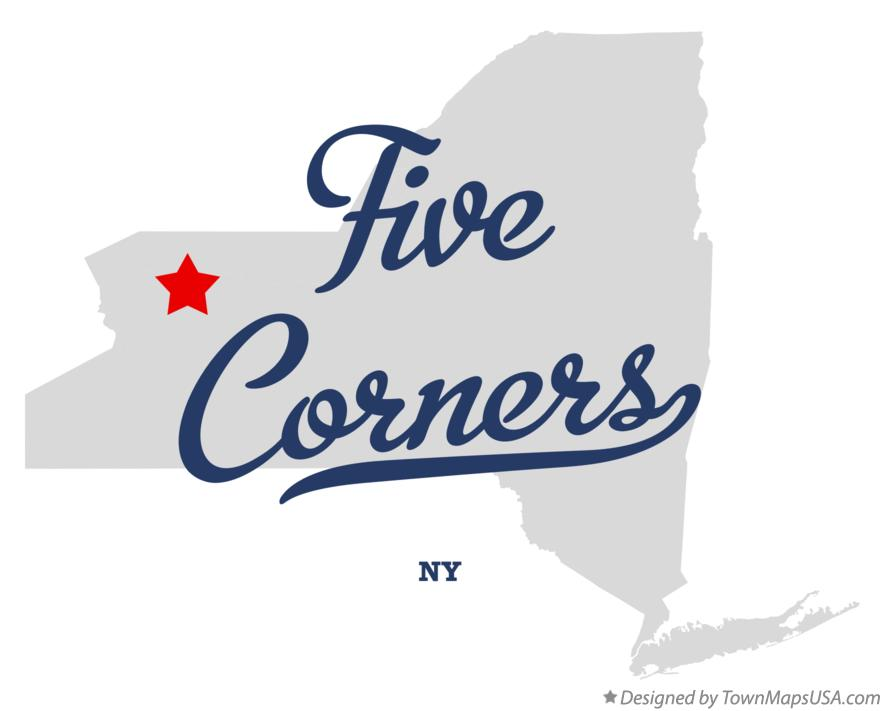 Map of Five Corners New York NY