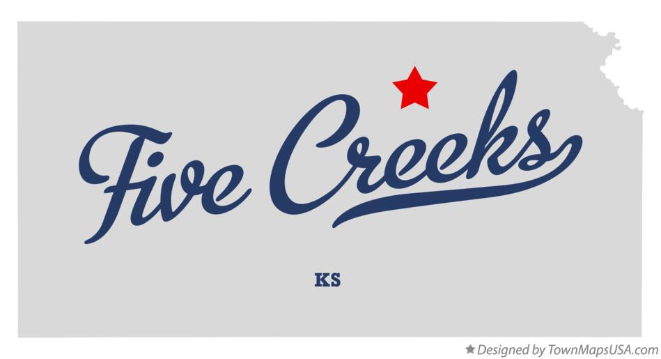 Map of Five Creeks Kansas KS