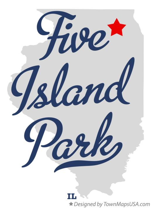 Map of Five Island Park Illinois IL