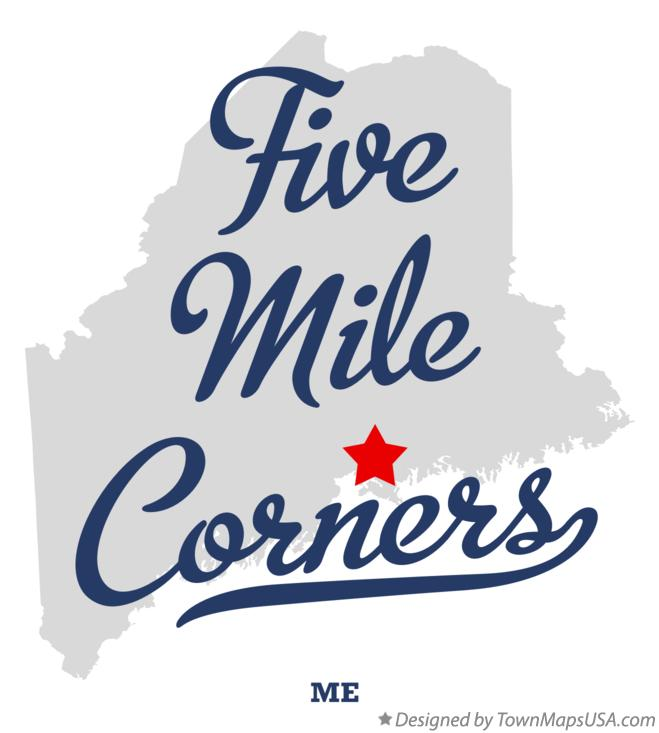 Map of Five Mile Corners Maine ME