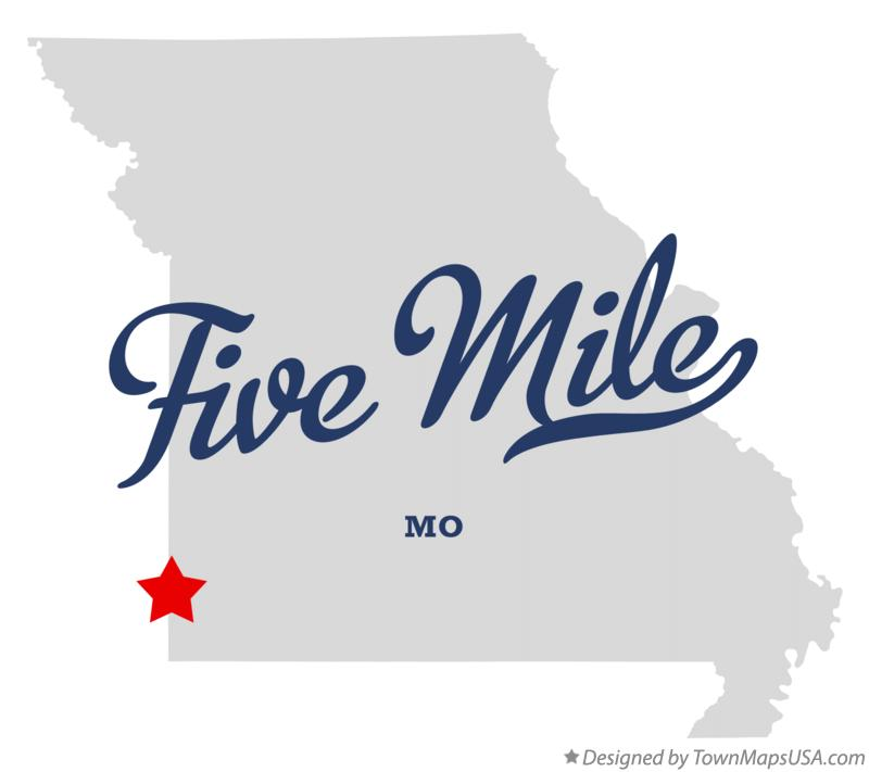 Map of Five Mile Missouri MO