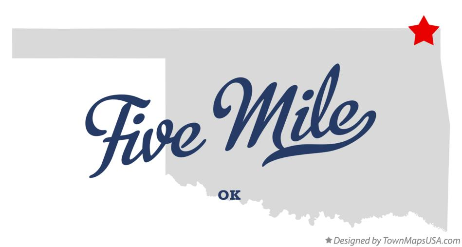 Map of Five Mile Oklahoma OK