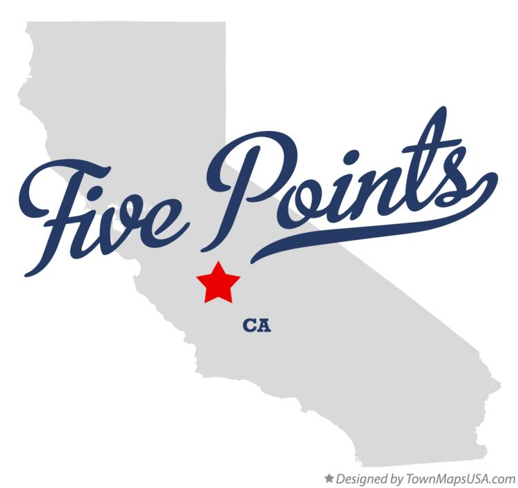 Map of Five Points California CA