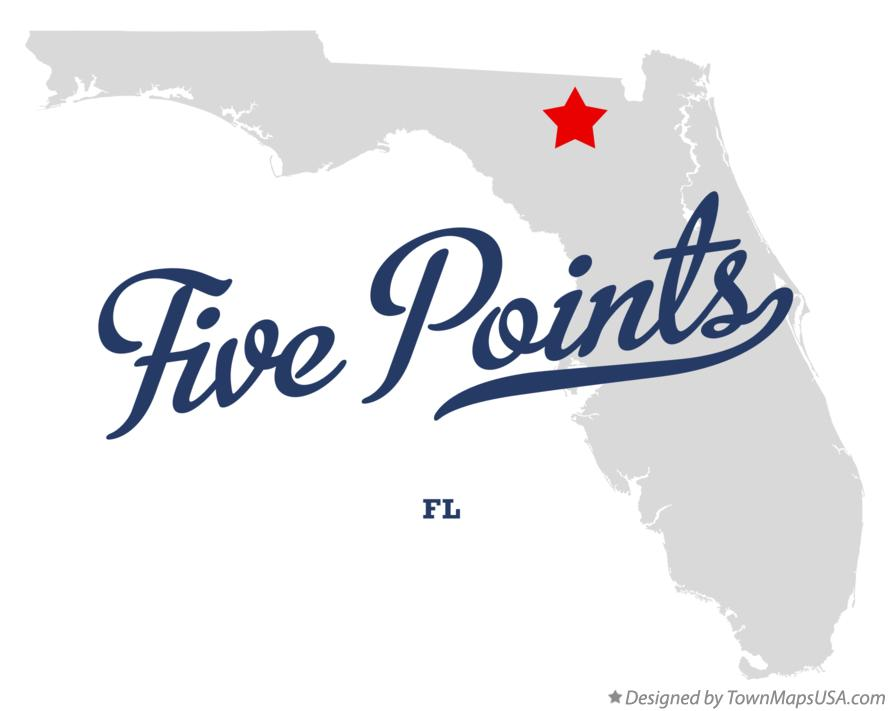 Map of Five Points Florida FL