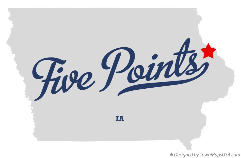 Map of Five Points Iowa IA