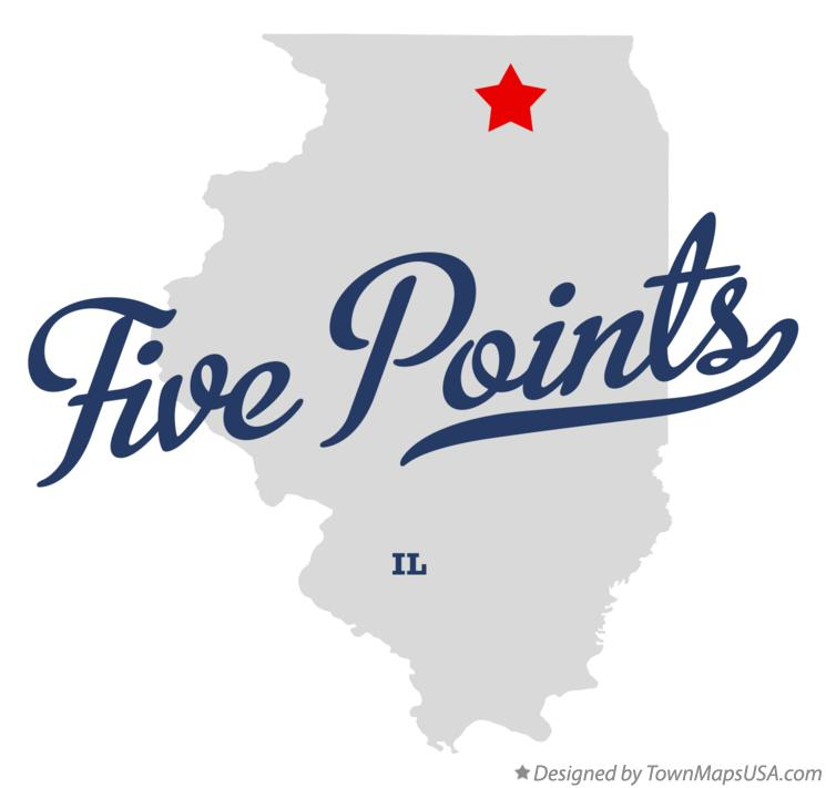 Map of Five Points Illinois IL