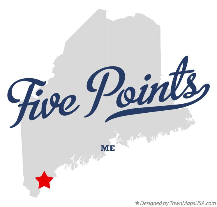 Map of Five Points Maine ME