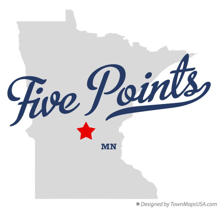 Map of Five Points Minnesota MN