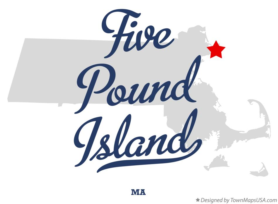 Map of Five Pound Island Massachusetts MA