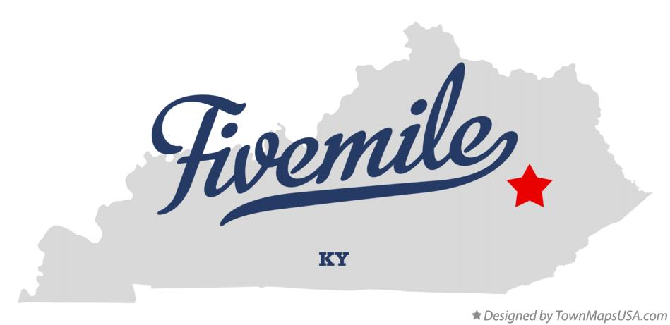 Map of Fivemile Kentucky KY