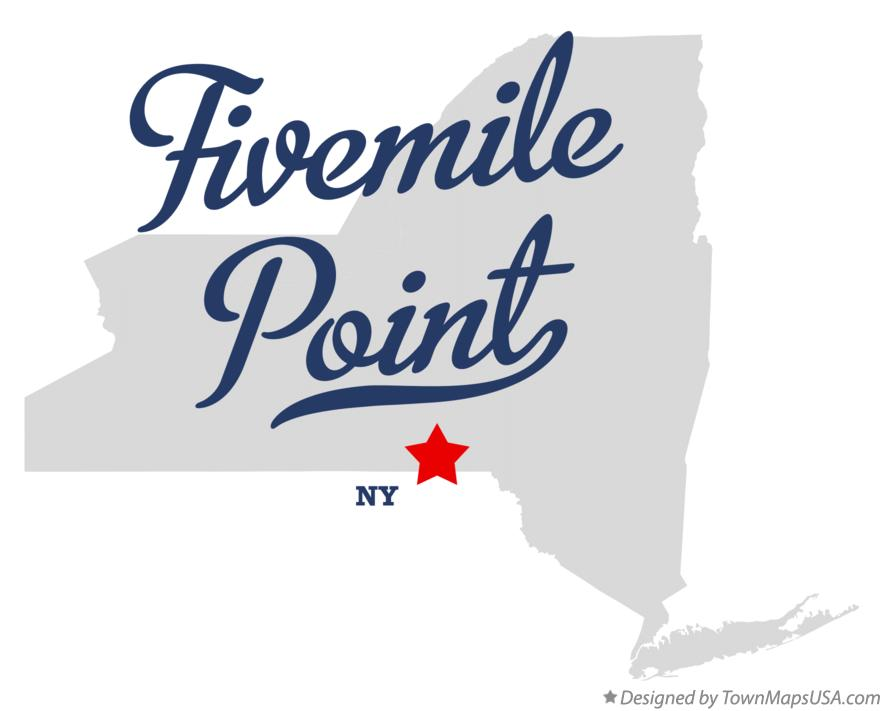 Map of Fivemile Point New York NY