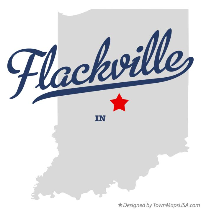 Map of Flackville Indiana IN