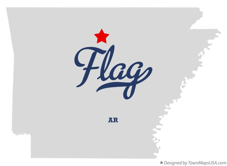 Map of Flag Arkansas AR