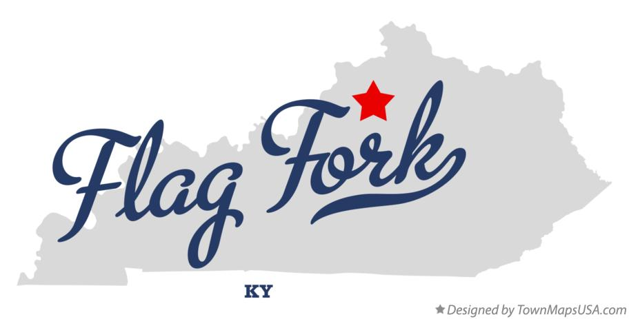 Map of Flag Fork Kentucky KY