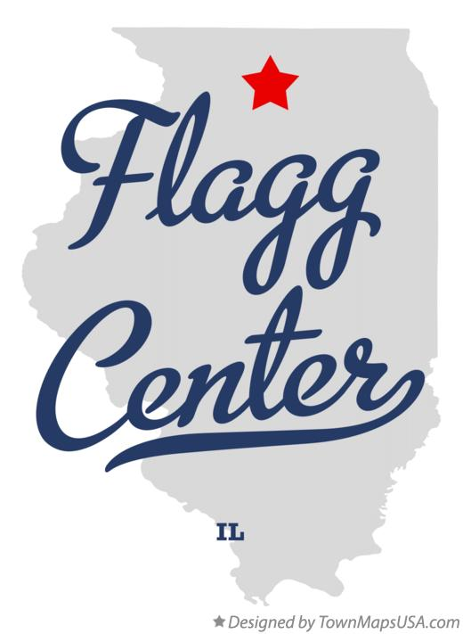 Map of Flagg Center Illinois IL