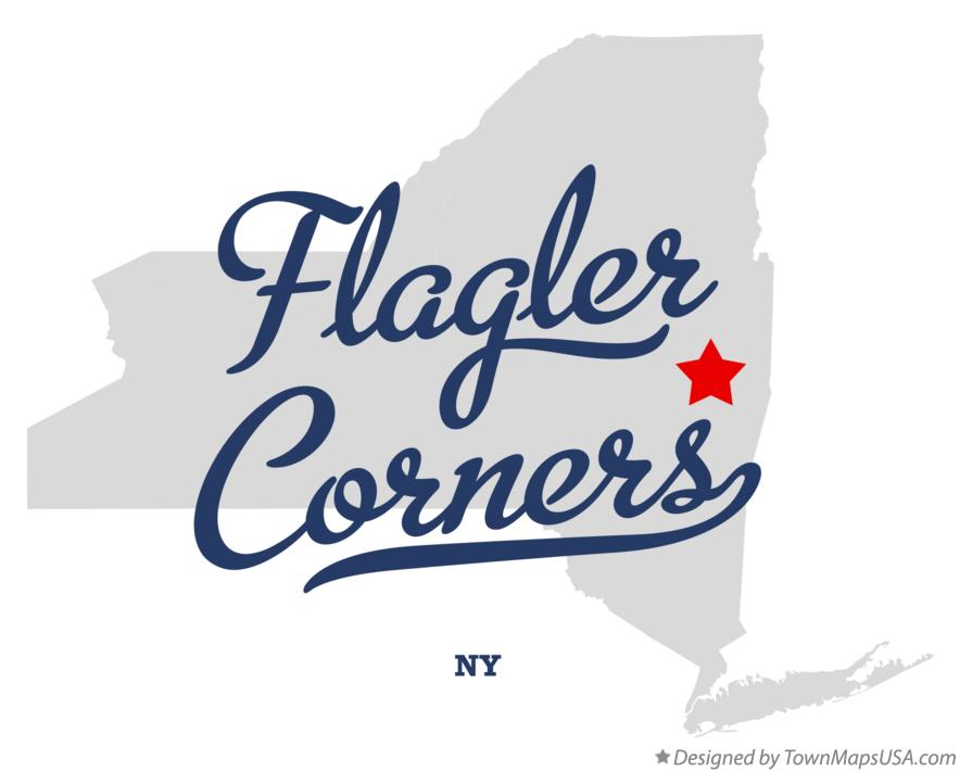 Map of Flagler Corners New York NY