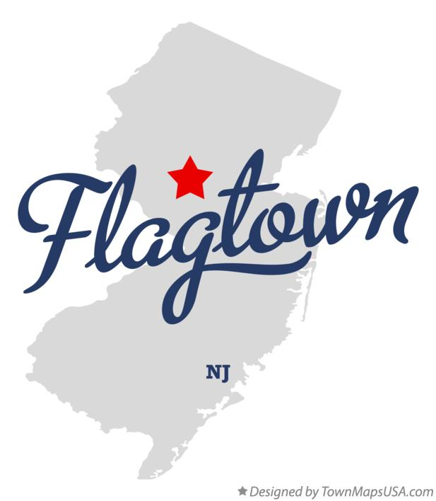 Map of Flagtown New Jersey NJ