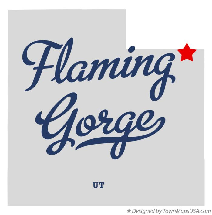 Map of Flaming Gorge Utah UT