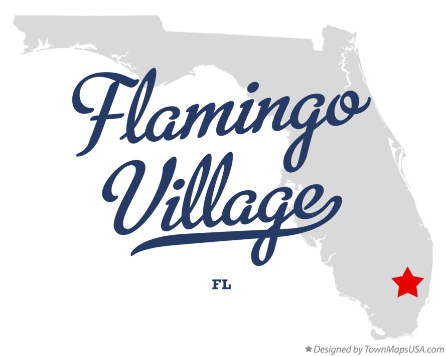 Map of Flamingo Village Florida FL