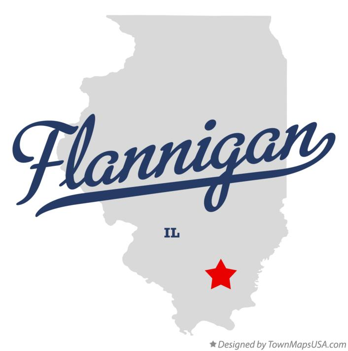 Map of Flannigan Illinois IL