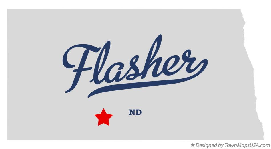 Map of Flasher North Dakota ND