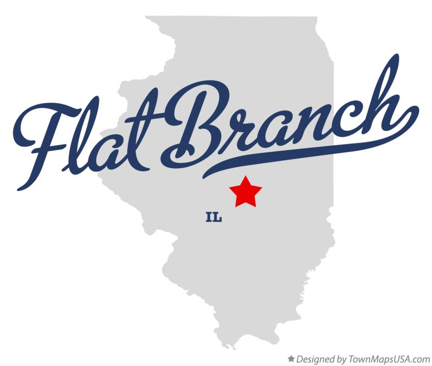 Map of Flat Branch Illinois IL