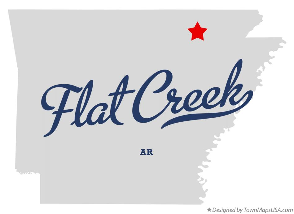 Map of Flat Creek Arkansas AR