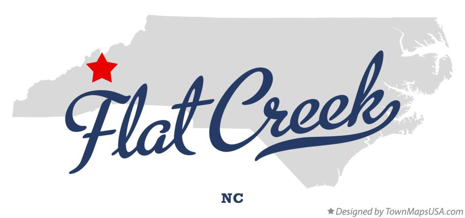 Map of Flat Creek North Carolina NC