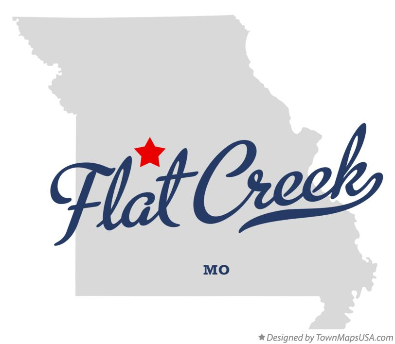 Map of Flat Creek Missouri MO