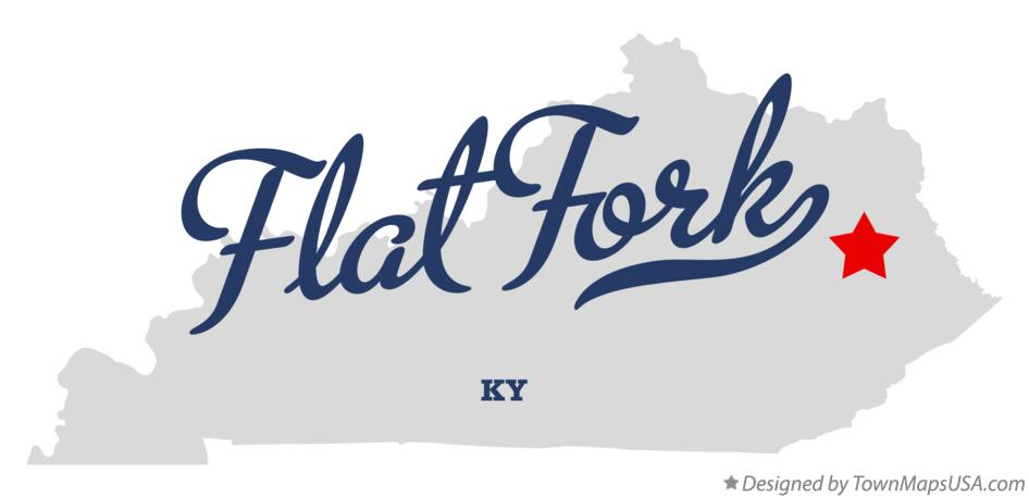 Map of Flat Fork Kentucky KY