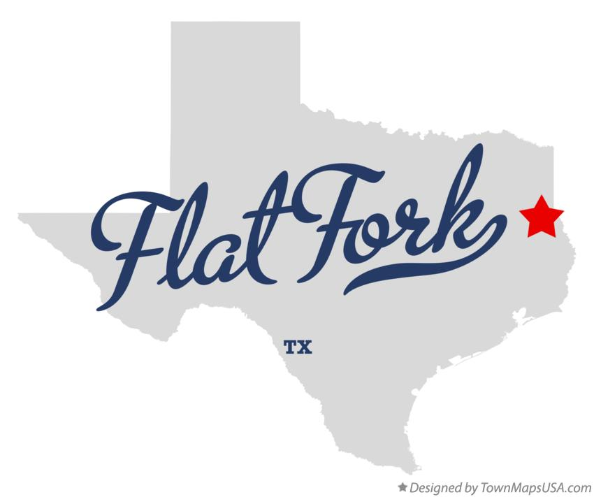 Map of Flat Fork Texas TX